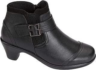 Bunions Pain Relief Most Comfortable 2 Inch Black Low Heels Womens Booties Emma BioHeels
