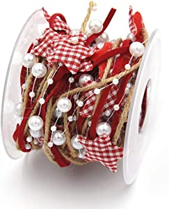 Sarplle Ruban Satin Deco Noel Deco Ribbon Ribbon DIY Crafting for Wedding Decoration Balloons, Fleurs, Arbres de Noel, Vitrines - 5M