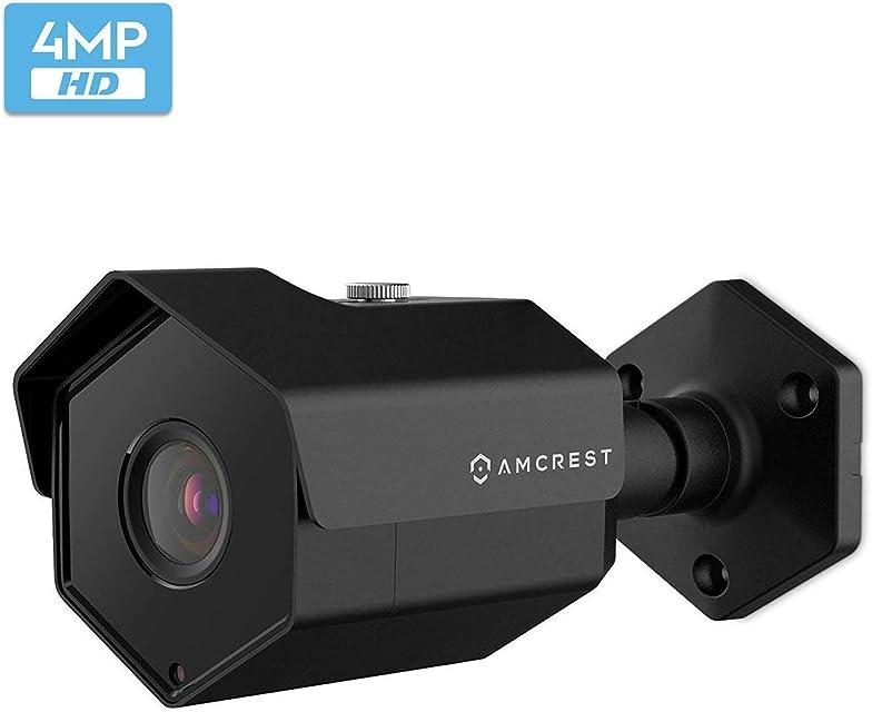 Amcrest UltraHD 4MP Cámara PoE para Exteriores 2688 x 1520p Cámara de Seguridad IP Bullet IP67 Impermeable para Exteriores visión Nocturna de 98 pies 4 megapíxeles IP4M-1026EB (Negro)