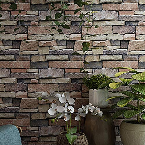 Brick Wallpaper_Brick Pattern Brick Wallpaper Bekleidungsgeschäft Cafe Hot Pot Shop Industriestil 3D Wallpapers Wal Wanddekoration fototapete 3d Tapete effekt Vlies wandbild Schlafzimmer-430cm×300cm