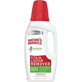 Nature's Miracle Dog Stain and Odor Remover, Pour, Enzymatic Formula for Urine Stains, Feces Stains, Vomit Stains and Drool Stains, Odor Control