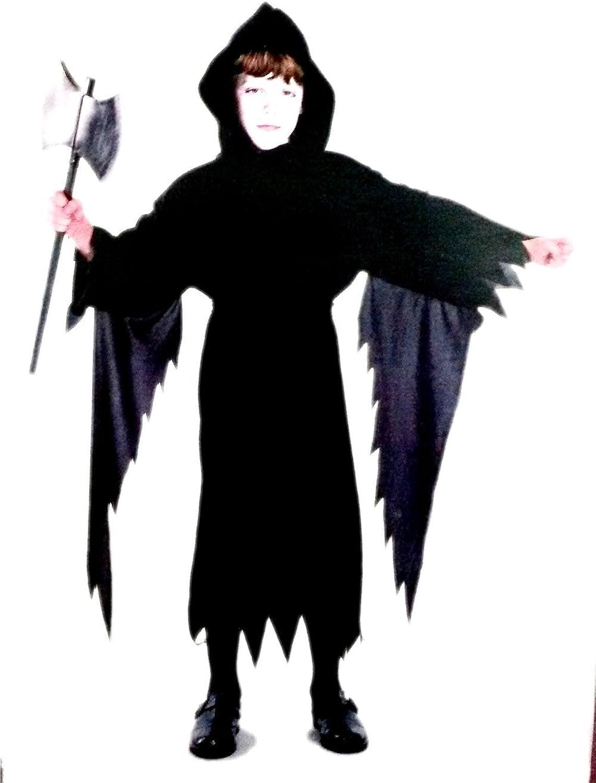 Größe S - M  5-7 Jahre - Kostüm - Cross Dressing - Karneval - Halloween - Schwarzer Dämon - Kapuze - Tod - Teufel - Kind B07BGQVMVC Wir haben von unseren Kunden Lob erhalten.    Eleganter Stil