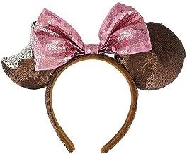 Disney Parks Chocolate Mickey Mouse Ice Cream Bar Bow Sequin Ears Headband