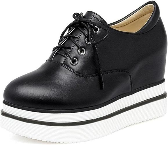 Mme Spring chaussures d'ascenseur muffin simple dames à fond épais chaussures chaussures en dentelle , US6   EU36   UK4   CN36