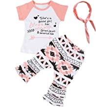 Baby Girl Kids Colorful Clothes T-Shirt Tops+Bohemian Pants+Headband Outfit Set