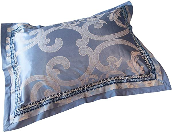 MKXI Standard Queen Pillow Shams Gorgeous Paisley European Luxury Pillowcases Set Of 2 Sateen Cotton Pillow Covers 26 X20 Decoration For Bed