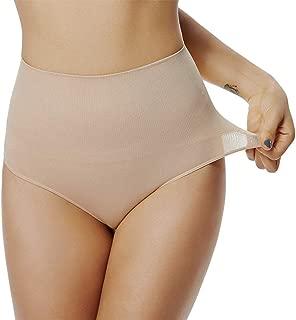 angelana High Waist Thong Shapewear for Women Body Shaper Underwear Tummy Control Girdle Panty