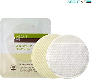 ABOUT ME Skin Tone Up Peeling Pad 7g Pack of 5 - Dead Skin Cells Care wit Double Side Pad, AHA Peeling Pad with Lemon Extract, Skin Clear and Briightening Effect