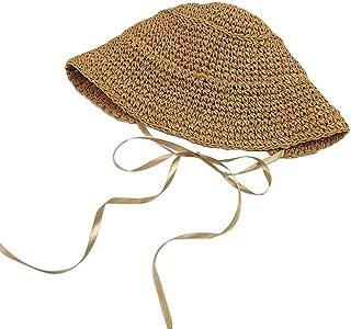Sunhat Straw Hat Beach Hat Summer Shade Sunscreen Caps for Women Fashion(Khaki)