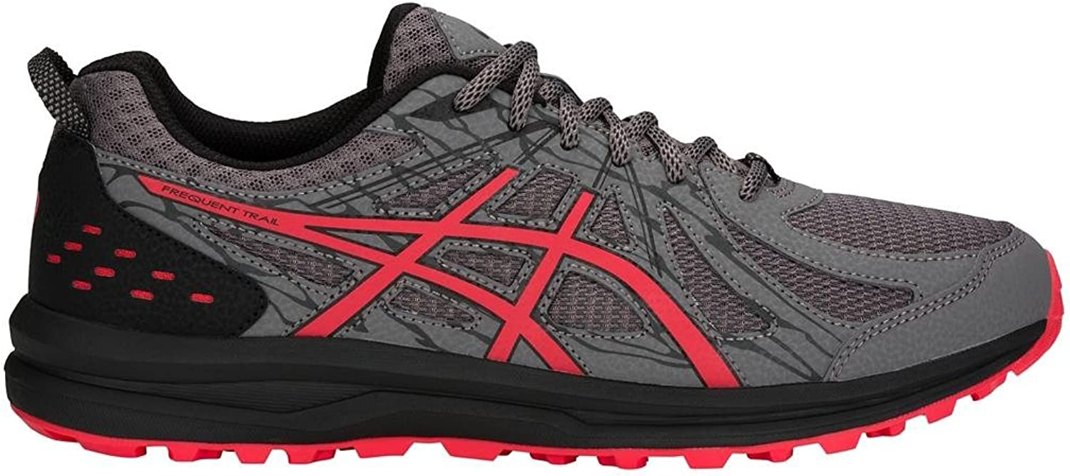 ASICS 1011A034 Men's Frequent Trail correrening sautope, autobon rosso Alert - 10.5