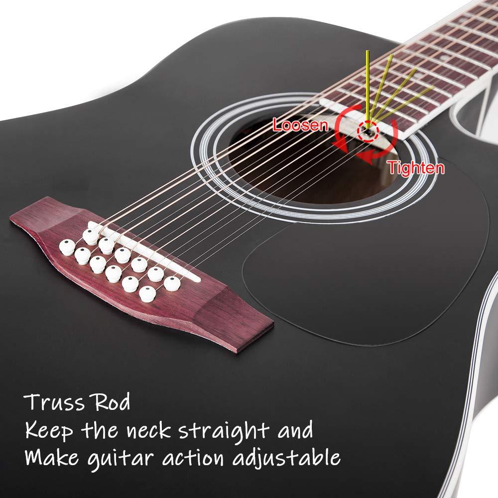 Vangoa Guitarra de 12 cuerdas 41 pulgadas Guitarra Electro ...