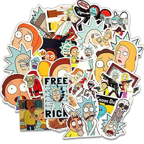WayOuter Aufkleber Rick und Morty PVC Wasserdicht Vinyl Stickers Decals für Laptops, Autos, Motorräder, Tragbares Gepäck (60)