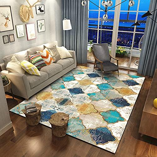 Aunt Susan Alfombras Salon Grandes - Pelo Largo Alfombra Habitación Dormitorio Lavables Comedor Moderna Vivero_Gradient -1_80X160Cm