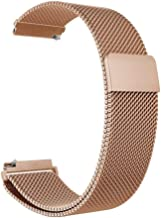 for Samsung Galaxy Watch 46mm 42mm Active Gear s3 Frontier/Classic s2 huami amazfit bip Band milanese Loop Belt 20mm 22mm Strap,Rose Gold,Huawei Watch gt 46mm