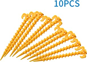 LOBKIN Canopy Stakes Outdoor Blanket Stakes Tent Stakes Durable and Strong Plastic Peg for Beach Mat, Screw Shape 20 cm 7....