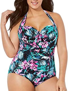 84796d54e975 Rawdah-- Donne Ragazza Taglie Forti Retro Vita Alta Due Pezzi Bikini  Spiaggia Costumi da