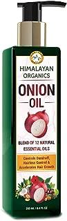 Himalayan Organics Onion Hair Oil - Controls Hair Fall - Promotes Hair Growth - No Mineral Oils & Silicones - 250ml