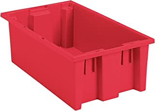 Akro-Mils, 35180RED, Nest And Stack Container, 18 In. L, Red
