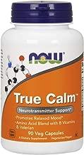 NOW Supplements, True Calm, Amino Acid blend with B Vitamins & Valerian , 90 Veg Capsules