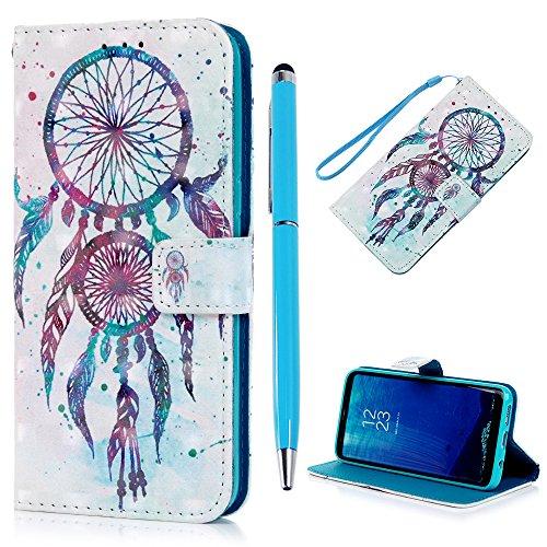 """S8 Plus Lederhülle YOKIRIN Wallet Case für Samsung Galaxy S8 Plus 6.2\"""" Flipcase 3D Effekt PU Leder Hülle Brieftasche Tasche Handyhülle Folio Schutzhülle Handytasche Ständer Handyschale Wind Chimes"""