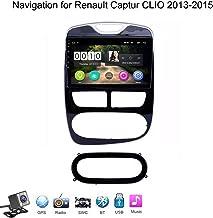 Buladala Android 8.1 Quad Core Stereo GPS De Navegacion para Renault Captur Clio 2013-2015, Soporte WiFi FM Am/Reproductor Multimedia/Bluetooth Control del Volante/Mirror Link