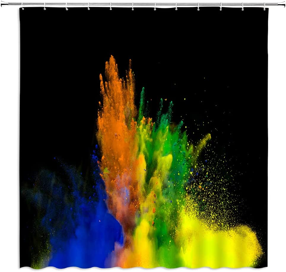 WZFashion Colorful Popular brand Shower Curtain Watercolor Decor NEW before selling Abstract Art