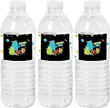 Monster Bash - Little Monster Birthday Party or Baby Shower Water Bottle Sticker Labels - Set of 20
