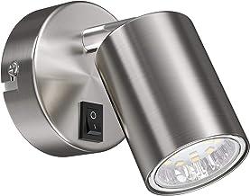 ledscom.de WAIKA wandspot, enkele vlam, met schakelaar, GU10, chroom mat, incl. GU10 LED-lamp (warm wit, 3000K, 2W =24W, 2...