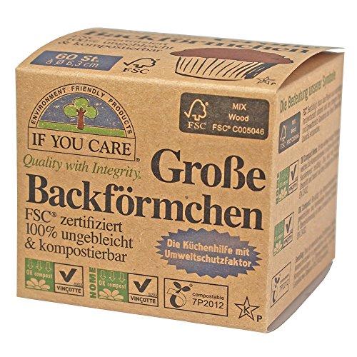If You Care Backförmchen Groß - für Muffins 100% ungebleicht; FSC Papier (1 x 60 Stück)