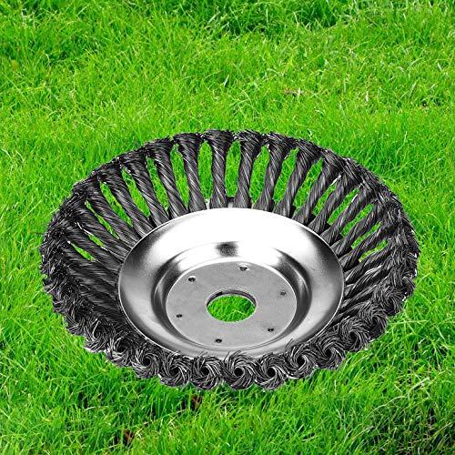 Yolando Cepillo Redondo para Desbrozadora de 150mm x 25,4 mm, Cepillo para Malas Hierbas, Disco de Cabezal de Cepillo Universal de Recortadora para Césped, para Jardín al Aire - 6 Inch