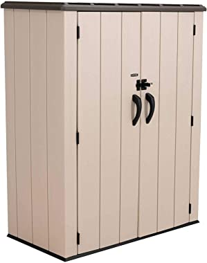 LIFETIME 60326 Vertical Storage Shed, Pack of 1, Desert Sand