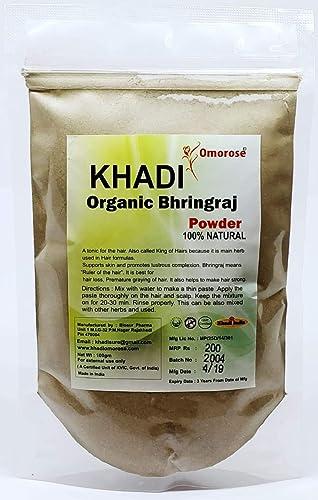 Khadi Omorose Bhringraj Powder 100 Grams (100% Organic)