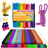 Home Pro Shop 350 Pieces Pipe Cleaners for Craft Supplies - Soft Bristle, Flexible & Durable Pipe Cleaner for Crafts, Fun Creative DIY Ar, & Decorations - 6mm x 12inch Chenille Stems in 30 Colors