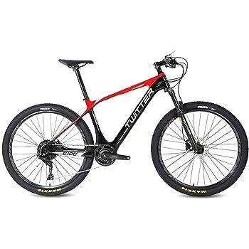 Super-ZS Bicicleta de montaña eléctrica de Fibra de Carbono, (incorporada/Externa) batería de Litio de 10 A, Bicicleta de montaña asistida por energía eléctrica Ligera para Viajes al Aire Libre: Amazon.es: Hogar
