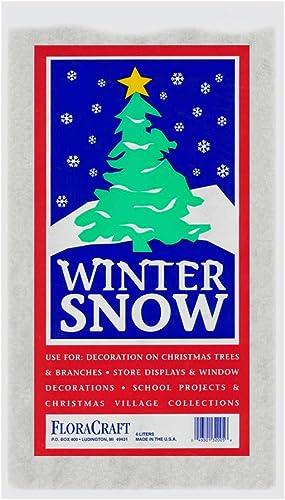 FloraCraft Faux Snow 4 Liters White