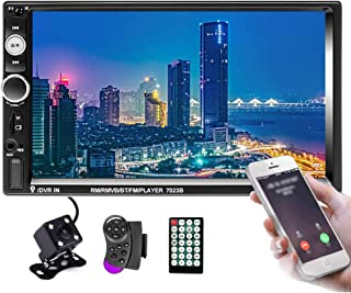 Hikity Double Din Car Stereo 7 Inch Touch Screen Radio Bluetooth FM Receiver Support Mirror Link for Android iOS Phone wit... photo