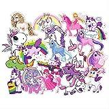 NOBRAND Pegatinas De Equipaje Personalizadas 30 Pegatinas De Unicornio Doodle De Dibujos Animados Monopatín Impermeable Pegatinas De Coche 6-12cm