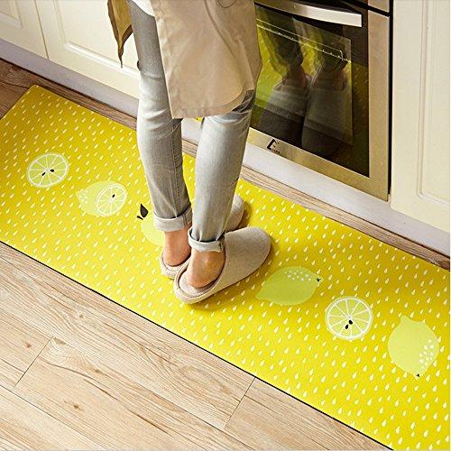 """Ustide Lemon Non-slip Waterproof Area Rugs,Oil Proof Creative Rug Runner,17.7""""x47.2"""""""