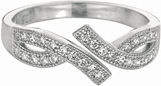 Sterling Silver Plated Rhodium Fancy Toe-ring