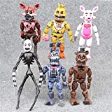 6pcs/lot Five Nights at Freddy's Action Figure Toys PVC FNAF Bonnie Foxy Freddy Fazbear Bear Model Dolls Toys for Children 17cm
