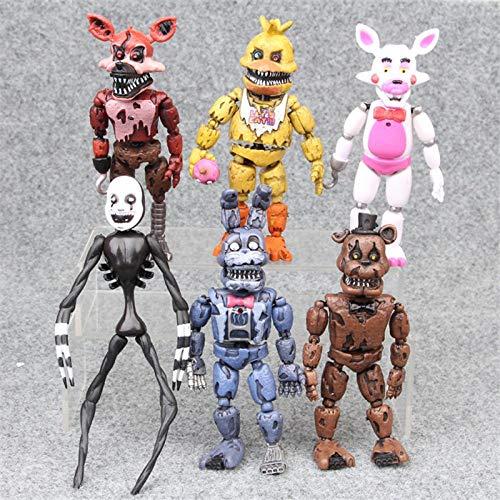 6pcs/lot Five Nights at Freddy's Action Figure Toys PVC FNAF Bonnie Foxy Freddy Fazbear Bear Model Dolls Toys for Children 17cm