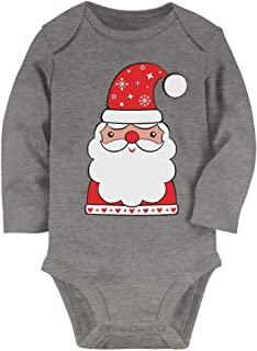 Tstars - Cute Holiday Santa Claus Outfit for Christmas Baby Long Sleeve Bodysuit