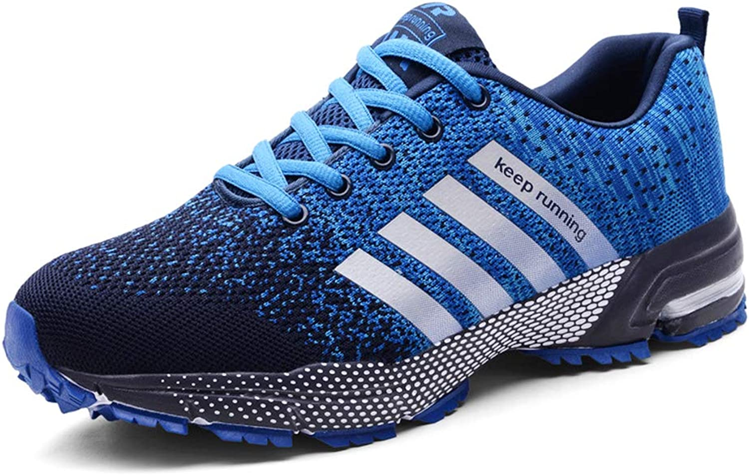 Unisex Sports shoes, Breathable Lightweight Trainer Fitness Running shoes, Jogging, on Foot,bluee,37