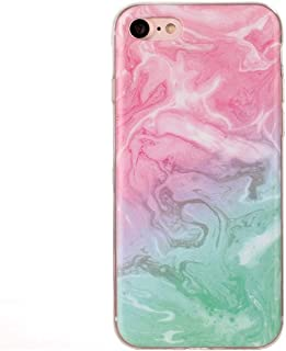 QFH For iPhone7 Purple Yellow Marble Pattern Soft TPU Protective Case new style phone case (Color : Color3)