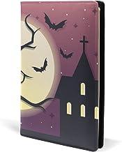COOSUN Spooky Halloween Night Funda de piel para libro Sox para la mayoría de libros de texto de 5,8