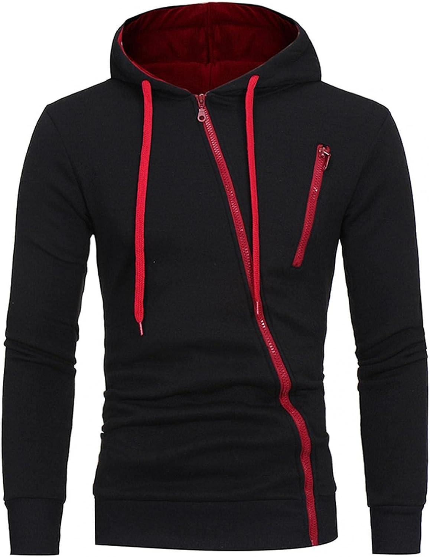 Hoodies for Men Men's Casual Pocket Zipper Coat Slim-fit Hooded Long Sleeve Cardigan Sweater Fashion Sweatshirt And Hoodies