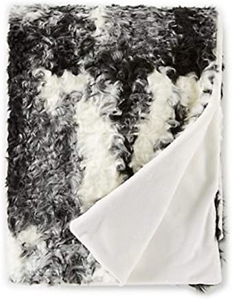 Noble Excellence Warm Shop Collection Amber Faux-Fur Throw