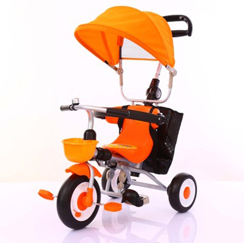 venderse como panqueques Triciclos Niños Niños Niños Bicicleta de 1 a 5 años Cocherito de bebé Cocherito de Niños Bicicleta Trike Niños 3 Ruedas ( Color   Naranja )  primera reputación de los clientes primero