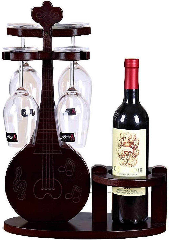 Lute Wine Rack Wooden Wine Rack Wine Rack Creative Wine Rack Wine Glass Rack Goblet Holder Cup Holder Family