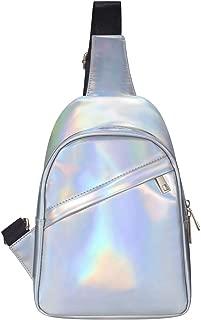 Vorspack Holographic Sling Bag Backpack Women's Crossbody Bag Shoulder Bag Chest Bag for Festival, Raves, Party, Travel